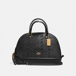 COACH SIERRA SATCHEL SIGNATURE DEBOSSED PATENT